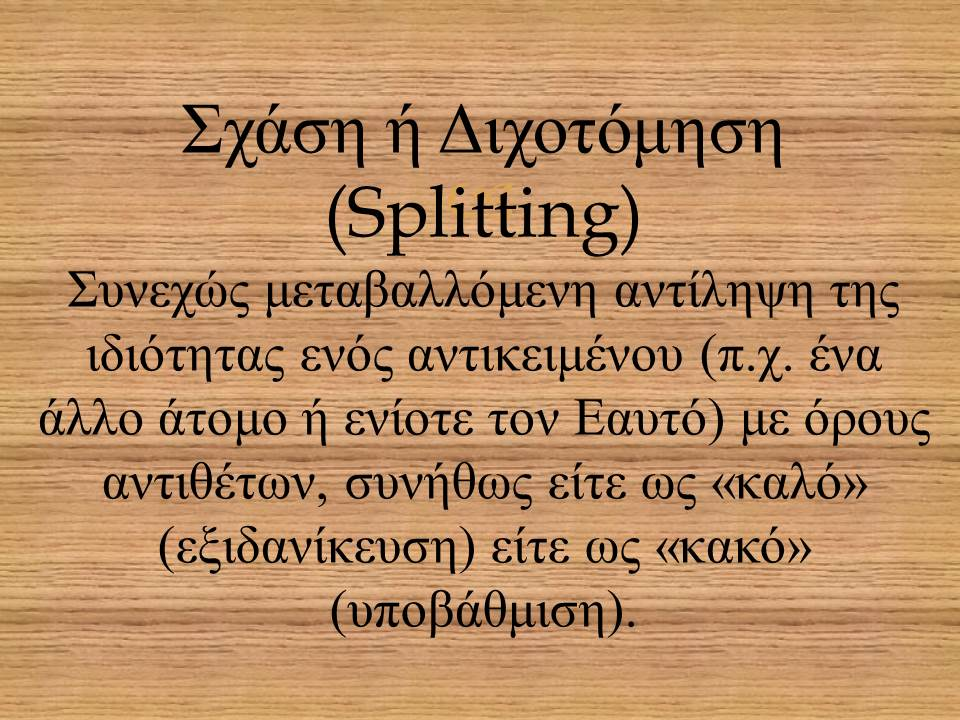 Σχάση ή Διχοτόμηση (Splitting)