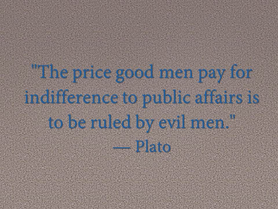 The price good men pay for indifference