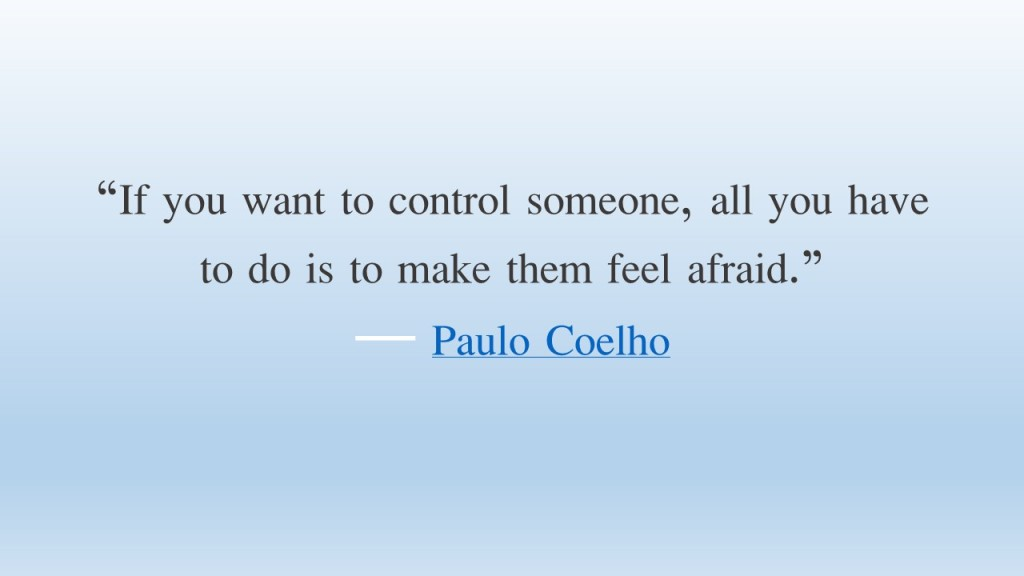 If you want to control someone,