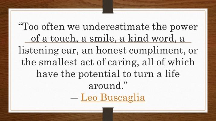 Too often we underestimate the power of