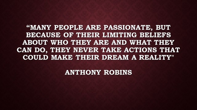 Many people are passionate, but because