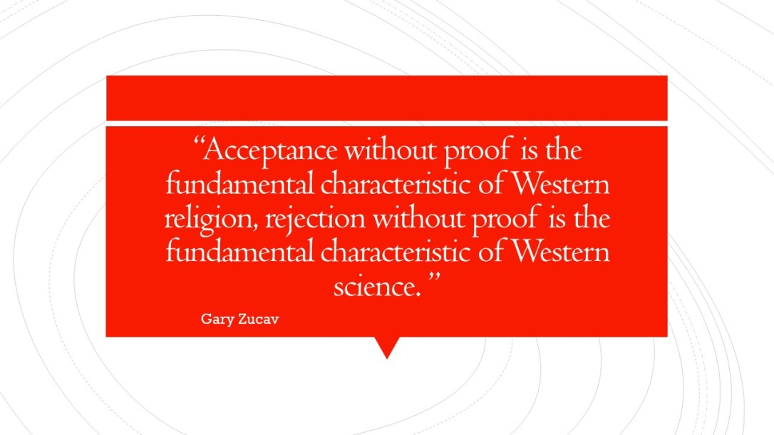 Acceptance without proof is the fundamental characteristic