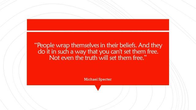 People wrap themselves in their beliefs